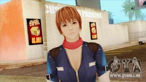 Dead Or Alive 5 LR Kasumi Fighter Force für GTA San Andreas dritten Screenshot