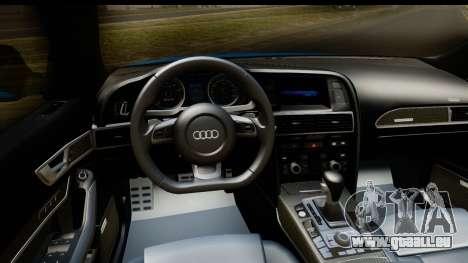Audi RS6 Vossen pour GTA San Andreas vue intérieure