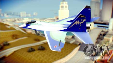 Mikoyan-Gurevich MIG-29K UB 341 Blue für GTA San Andreas linke Ansicht