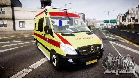 Mercedes-Benz Sprinter 311 cdi Belgian Ambulance pour GTA 4