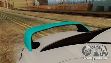 Mitsubishi Lancer Miku Hatsu für GTA San Andreas Rückansicht