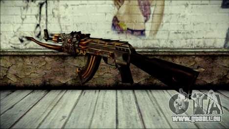 AK-47 Inferno pour GTA San Andreas deuxième écran