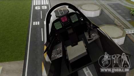 YF-23 Black Widow II Tigermeet pour GTA San Andreas sur la vue arrière gauche