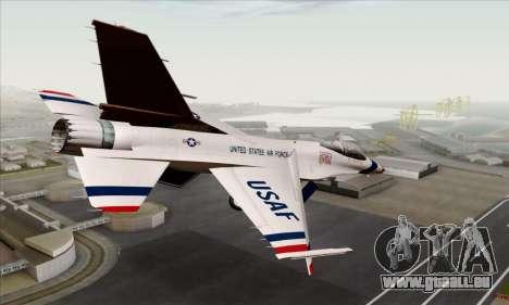 F-16C USAF Thunderbirds pour GTA San Andreas laissé vue