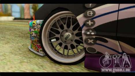 Elegy Sinon PJ pour GTA San Andreas sur la vue arrière gauche