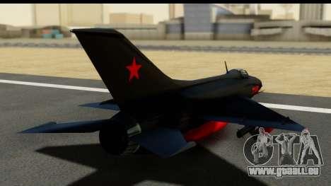 MIG-21F Fishbed B URSS Custom pour GTA San Andreas laissé vue