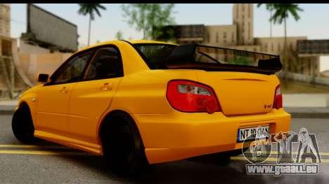 Subaru Impreza WRX STI 2005 Romanian Edition pour GTA San Andreas laissé vue