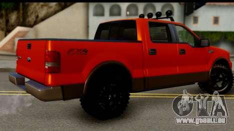 Ford F-150 4x4 pour GTA San Andreas laissé vue