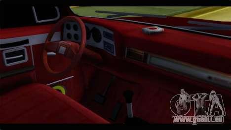 Chevrolet C10 Low pour GTA San Andreas sur la vue arrière gauche