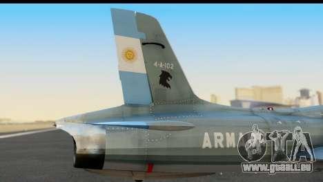 Aermacchi MB-326 ARM für GTA San Andreas rechten Ansicht