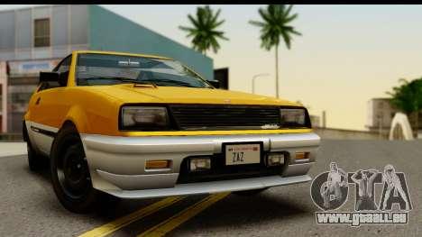 GTA 4 Blista Compact pour GTA San Andreas sur la vue arrière gauche