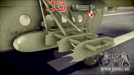 Mil Mi-8 Polish Air Force EUFOR für GTA San Andreas rechten Ansicht