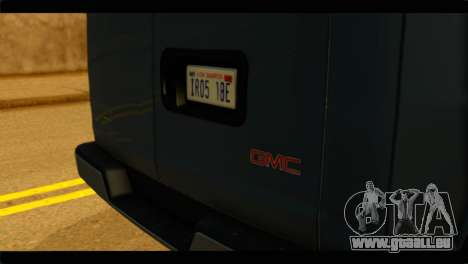 GMC Savana 3500 Passenger 2013 pour GTA San Andreas vue arrière