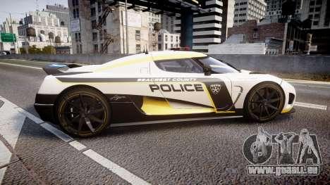 Koenigsegg Agera 2013 Police [EPM] v1.1 PJ1 für GTA 4 linke Ansicht