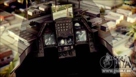 P-996 Lazer pour GTA San Andreas vue arrière