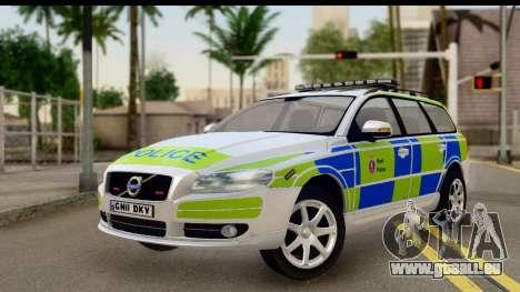 Volvo V70 Kent Police pour GTA San Andreas