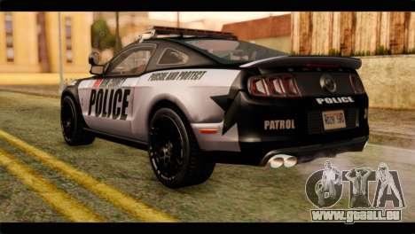 NFS Rivals Ford Shelby GT500 Police für GTA San Andreas linke Ansicht