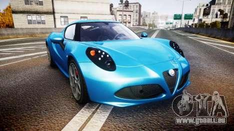 Alfa Romeo 4C 2014 HD Textures pour GTA 4