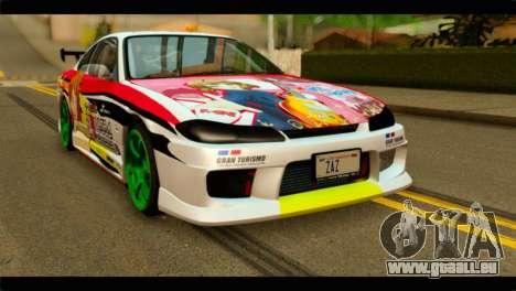 Nissan Silvia S15 Drift Hirasawa Yui Itasha pour GTA San Andreas
