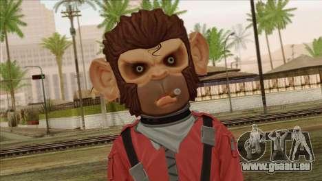 Monkey from GTA 5 v3 für GTA San Andreas dritten Screenshot