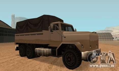 Barracks Fixed pour GTA San Andreas sur la vue arrière gauche