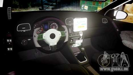 Volkswagen Golf Mk6 Dutch Police [ELS] pour GTA 4 est une vue de l'intérieur