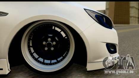 Opel Astra J für GTA San Andreas Rückansicht