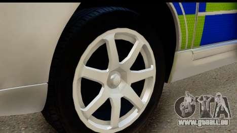 Volvo V70 Kent Police pour GTA San Andreas vue arrière
