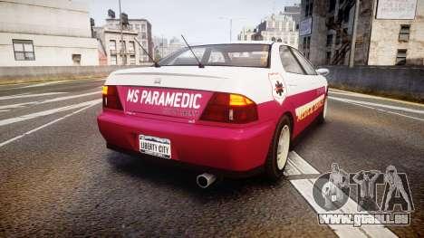 Dinka Chavos Paramedic pour GTA 4 Vue arrière de la gauche