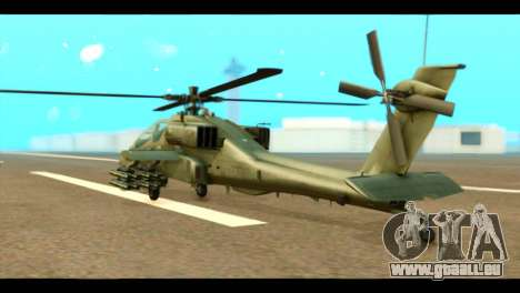 Boeing AH-64D Apache pour GTA San Andreas laissé vue