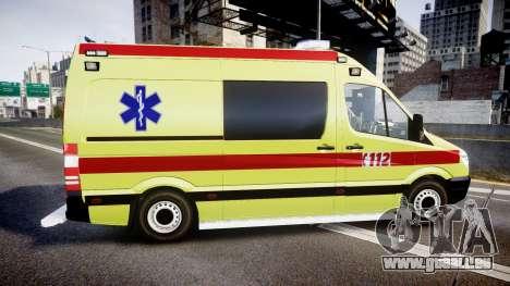 Mercedes-Benz Sprinter 311 cdi Belgian Ambulance pour GTA 4 est une gauche