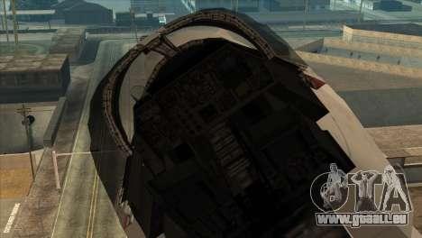 General Dynamics F-111 Aardvark für GTA San Andreas rechten Ansicht