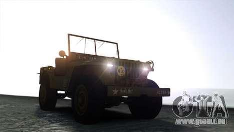 Ford Willys 1942 pour GTA 4 est un droit