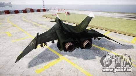MiG-31 Fire Fox MEC PJ pour GTA 4 Vue arrière de la gauche