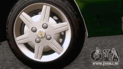 Chevrolet Corsa Classic 2009 pour GTA San Andreas sur la vue arrière gauche