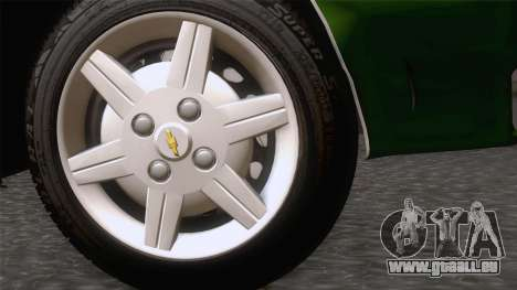 Chevrolet Corsa Classic 2009 für GTA San Andreas zurück linke Ansicht