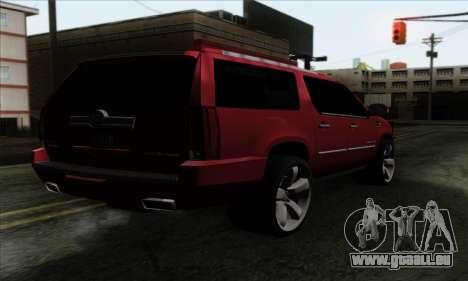 Cadillac Escalade 2013 pour GTA San Andreas laissé vue