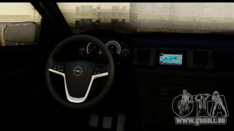 Opel Vectra pour GTA San Andreas vue intérieure