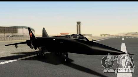 Mikoyan-Gurevich MIG-31 China Air Force pour GTA San Andreas