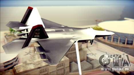 F-22 Raptor Razgriz für GTA San Andreas linke Ansicht