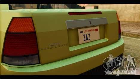 GTA 4 Presidente pour GTA San Andreas vue arrière