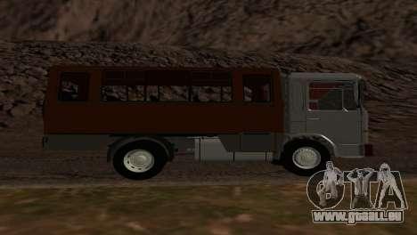 Roman Bus Edition pour GTA San Andreas vue de droite