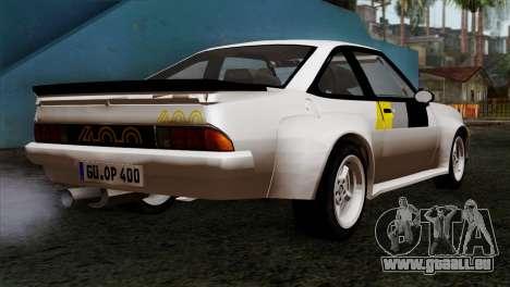 Opel Manta 400 v2 pour GTA San Andreas laissé vue