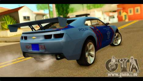 Chevrolet Camaro Indonesia Police für GTA San Andreas linke Ansicht