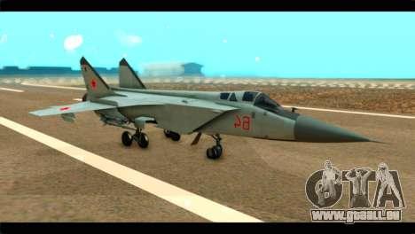 MIG-31 Soviet für GTA San Andreas