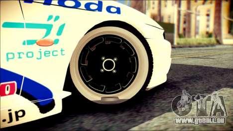 Nissan Silvia S14 Umi Sonoda Paintjob Itasha für GTA San Andreas zurück linke Ansicht