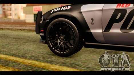 NFS Rivals Ford Shelby GT500 Police pour GTA San Andreas sur la vue arrière gauche