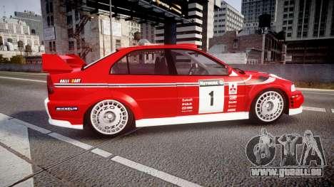 Mitsubishi Lancer Evolution VI 2000 Rally pour GTA 4 est une gauche