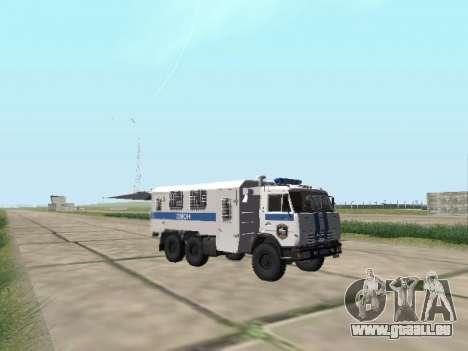 KAMAZ 43114 AUMONT pour GTA San Andreas vue arrière