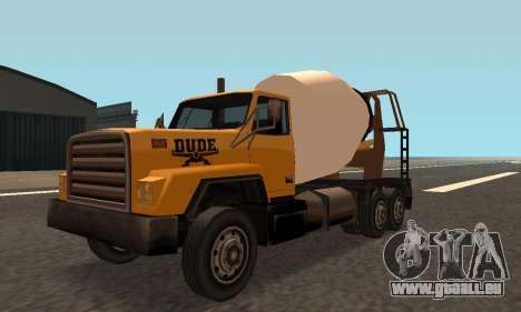 Cement Truck Fixed für GTA San Andreas linke Ansicht